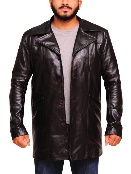 The Wire McNulty Dominic West leather Coat