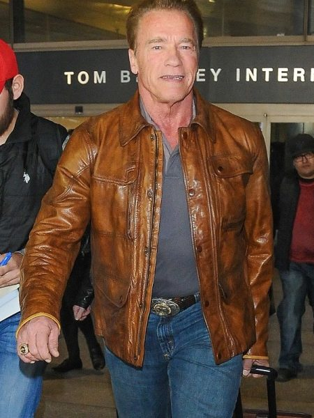 Los Angeles Arnold Schwarzenegger Leather Jacket