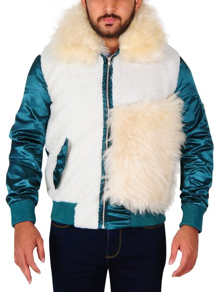 xXx Premier Vin Diesel Blue Sleeves Fur Jacket