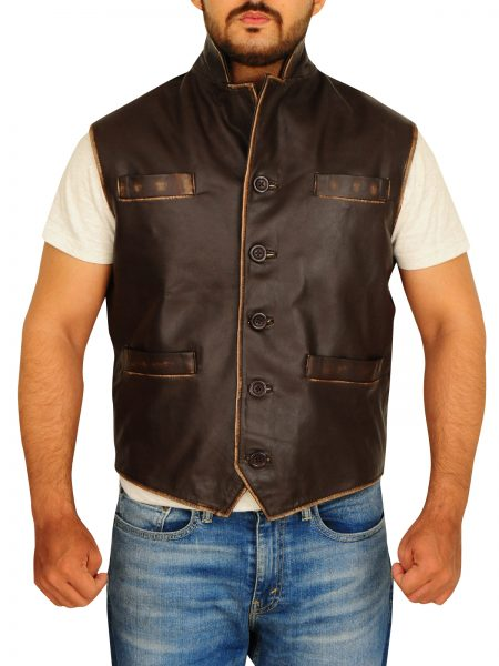 Cullen Bohannan Brown Leather Vest