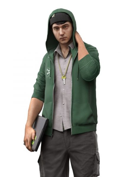 Watch Dogs 2 Josh Sauchak Hoodie Jacket