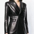 Classic leather jacket for ladies