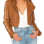 Women's Genuine Leather Jacket In Brown