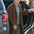 Chris Evans Knives Out wool Coat