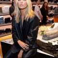 Elsa Hosk Black Leather Jacket
