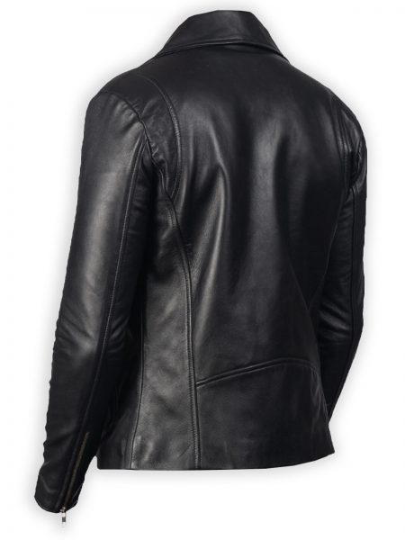 stylish Biker Black Leather Jacket for men