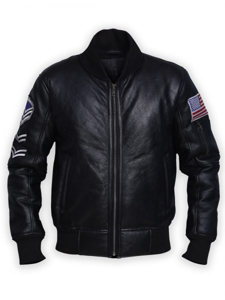 American Flags samish Leather Jacket usa