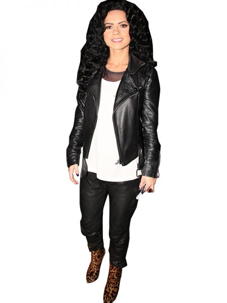 Inna Romanian singer Black Leather Jacket