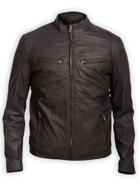 Ionic Black samish leather Jacket