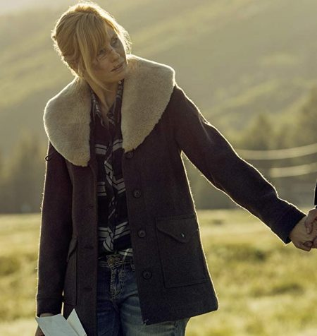 Kelly Reilly in Yellowstone coat