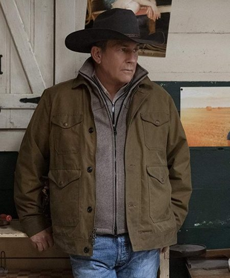 Kevin Costner in Yellowstone jacket