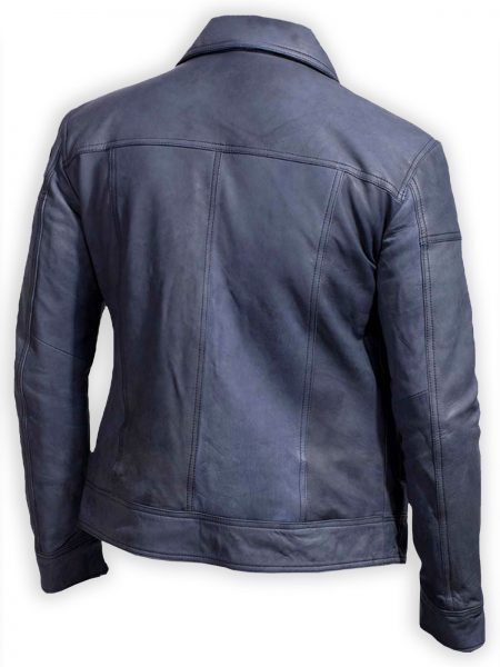 Lavendard Blue Biker Leather Jacket (1)
