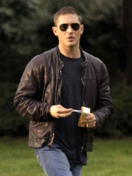 Tuck Henson This Means War Tom Hardy Black Leather Jacket