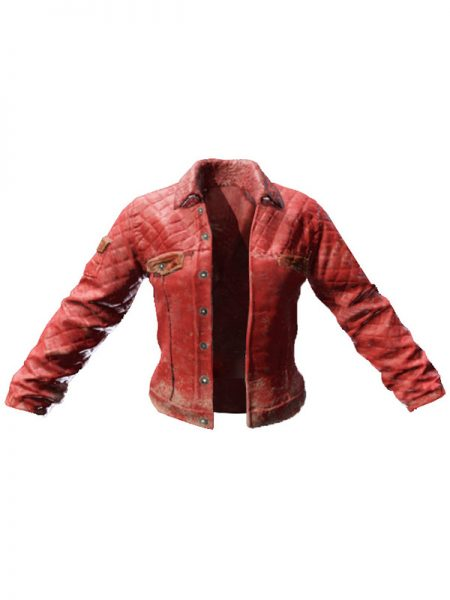 PUBG Red Faux Leather Jacket