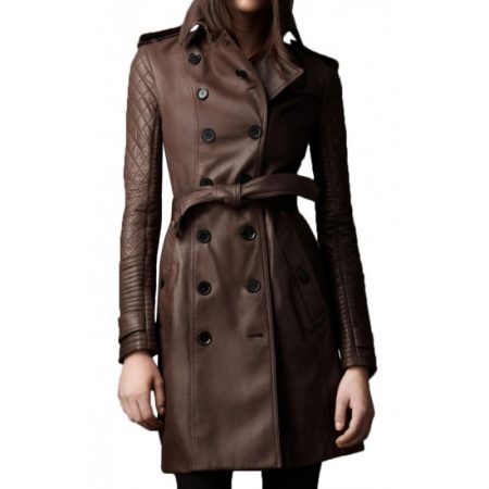 Women Mid Length Double Breasted Coat