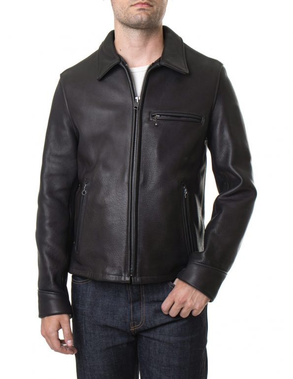 Men's Black Real Leather Rider Jacket1