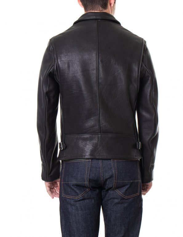 Men's Black Real Leather Rider Jacket2
