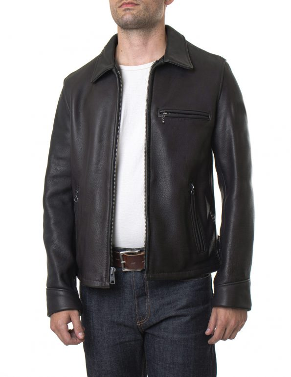 Men's Black Real Leather Rider Jacket4